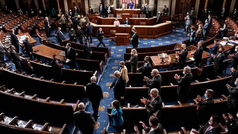 Kongres SAD tokom rasprave o potvrđivanju izborne pobede Džoa Bajdena Foto: Betaphoto/Erin Schaff/The New York Times via AP, Pool