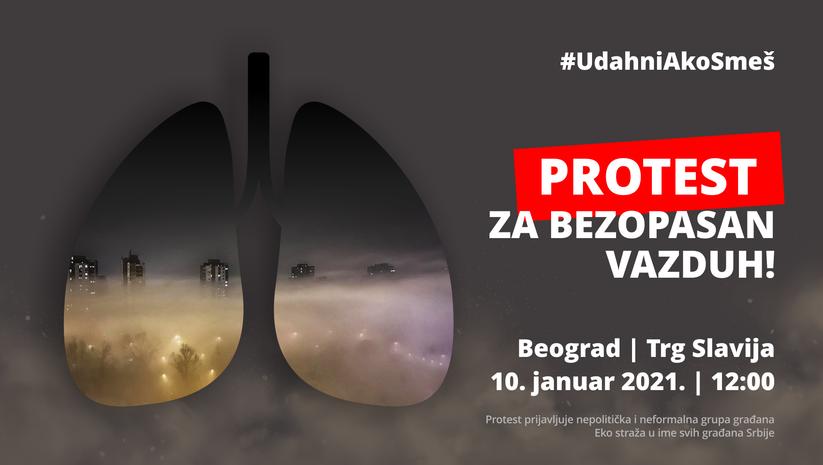 Protest zbog zagađenja vazduha, Foto: Facebook/Eko straža