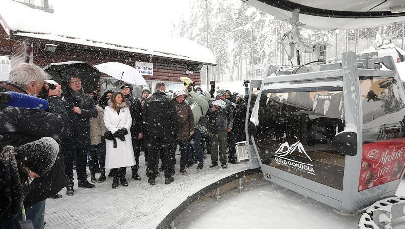 Svečano puštanje u rad zlatiborske gondole Foto: BETAPHOTO/DRAGAN KARADAREVIC