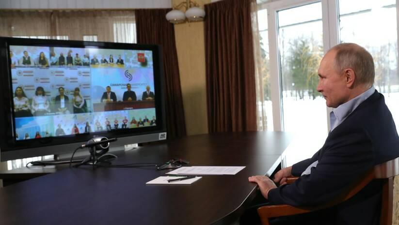 Vladimir Putin tokom razgovora sa studentima Foto: Kremlin.ru