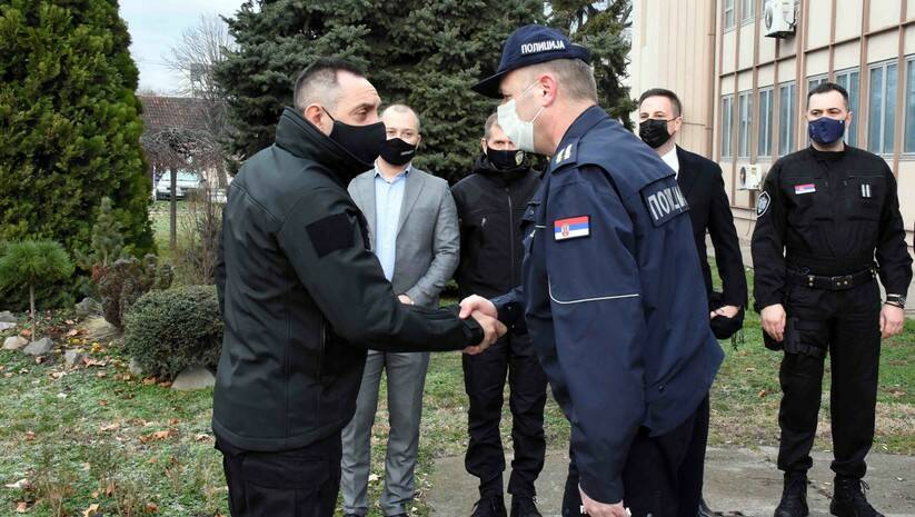 Ministar Vulin u poseti Pančevu / Foto: MUP