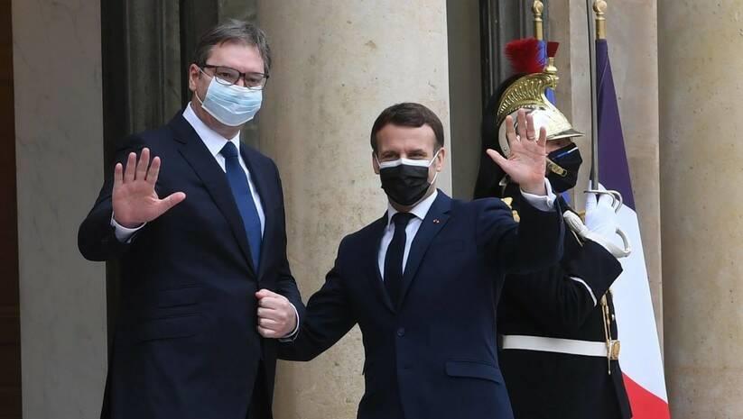 Aleksandar Vučić i Emanuel Makron, sastanak u Parizu, Foto: Facebook Aleksandar Vučić