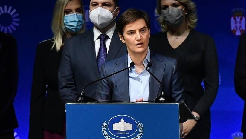 Premijerka Ane Brnabić na svečanosti povodom 100 dana rada Vlade Foto: Srđan Ilić