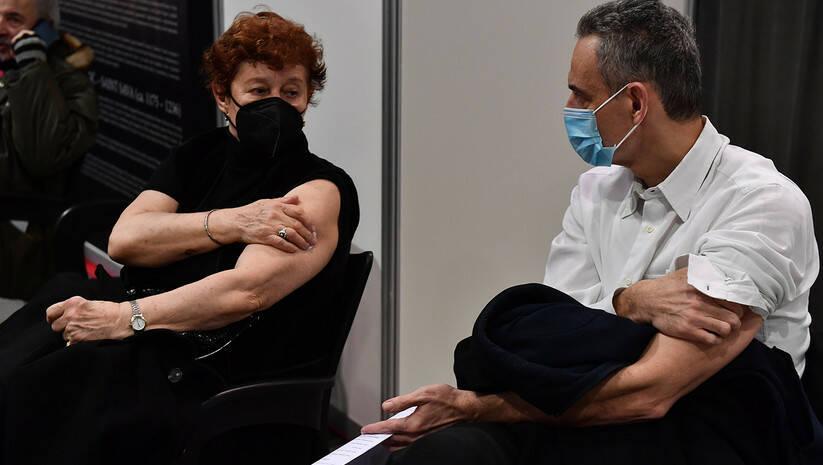 Vakcinacija protiv koronavirusa u Belekspocentru u Beogradu Foto: Srđan Ilić