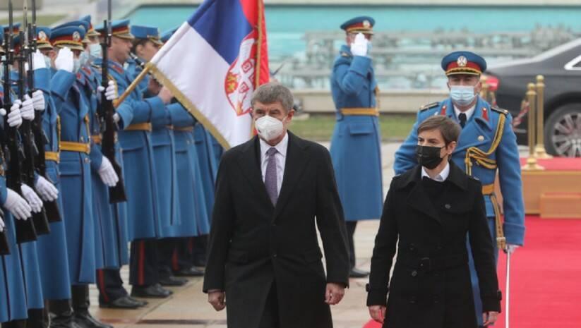 Ana Brnabić i Andrej Babiš, Foto: Vlada Srbije