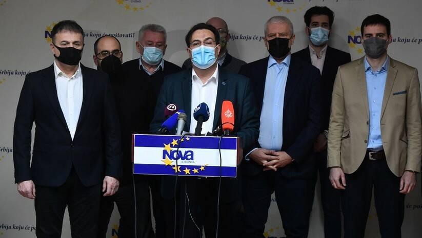 Konferencija za medije dela opozicije nakon dogovora o platformi za međustranački dijalog Foto: Srđan Ilić