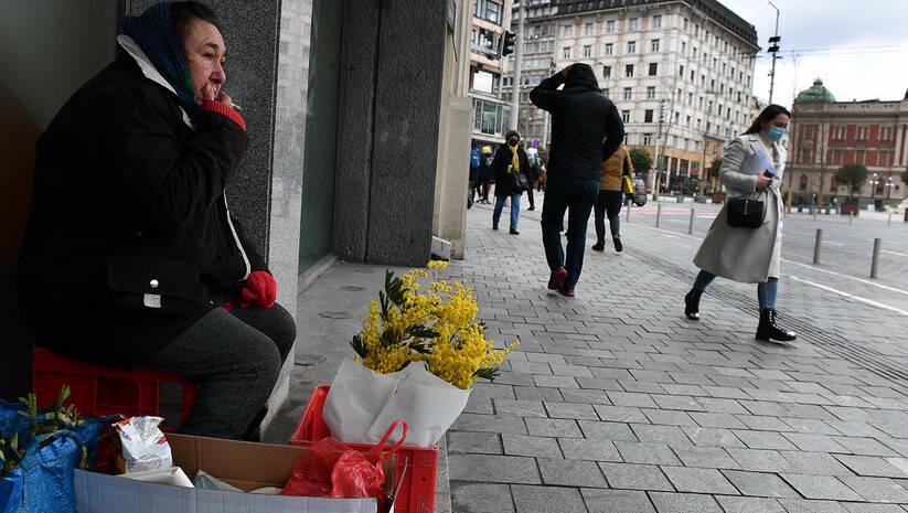 Beogradske ulice tokom pandemije koronavirusa Foto: Srđan Ilić