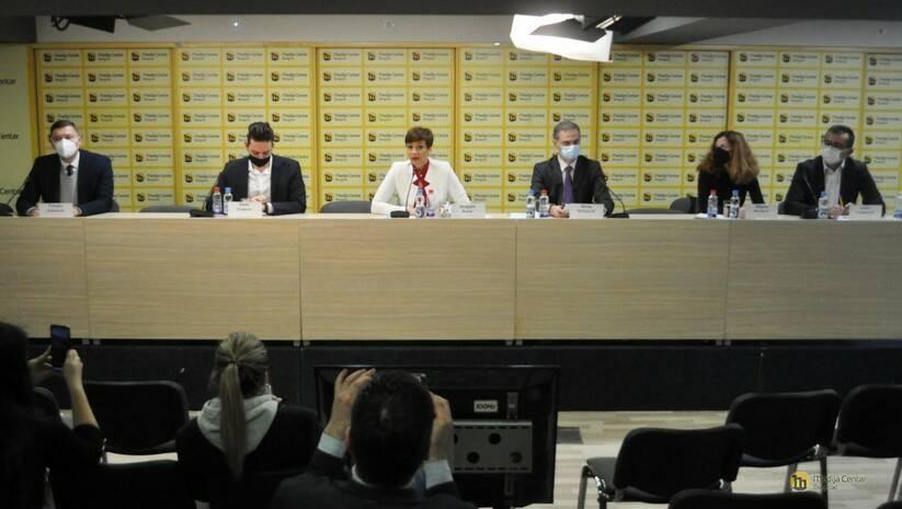 Predstavljanje platforme za međustranački dijalog pod pokroviteljstvom Evropskog parlamenta, Foto: Medija Centar