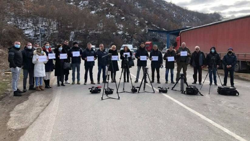 Protest novinara sa Kosova, Foto: UNS