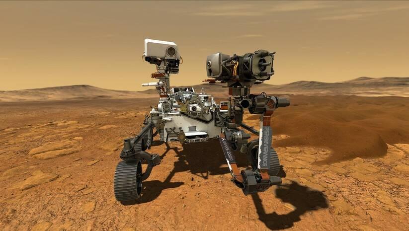 NASA rover Persevirens, Ilustracija: NASA