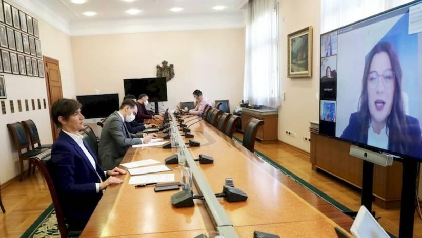 Onlajn sastanak premijerke Ane Brnabić s članovima Nacionalnog konventa o EU Foto: Vlada Srbije