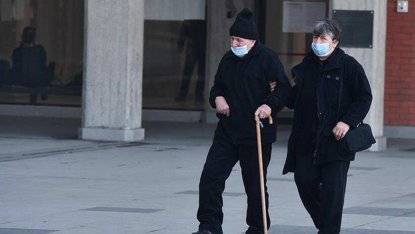 Beogradske ulice tokom epidemije koronavirusa, februar 2021. Foto: Srđan Ilić
