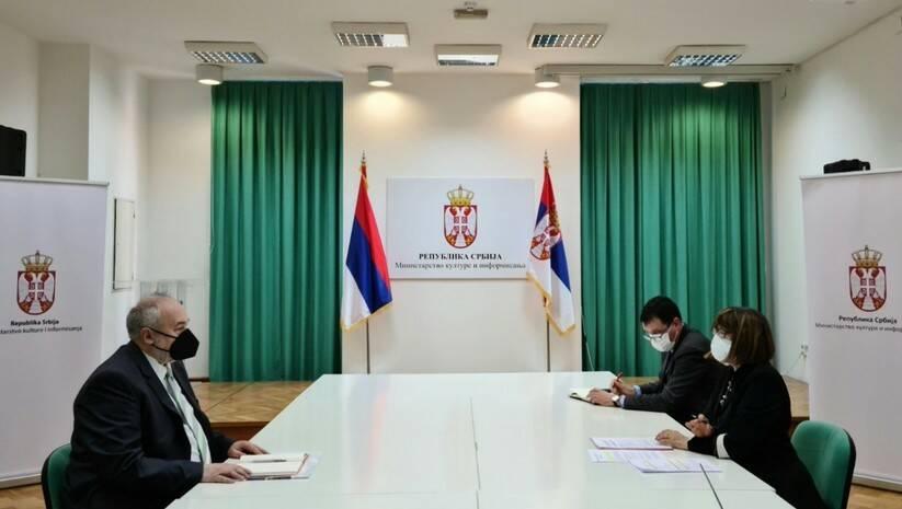 Sastanak ministarke Gojković sa direktorom Prirodnjačkog muzeja / Foto: Ministarstvo kulture