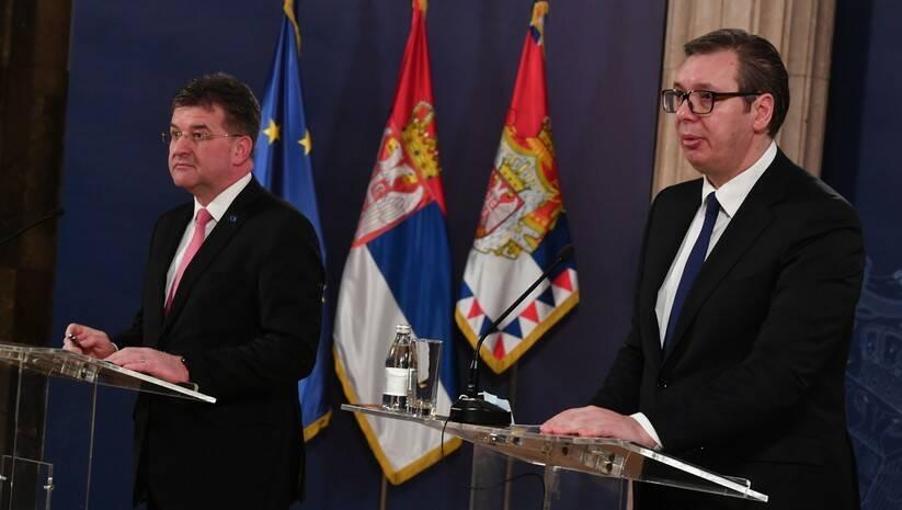 Miroslav Lajčak i Aleksandar Vučić Foto: Srđan Ilić