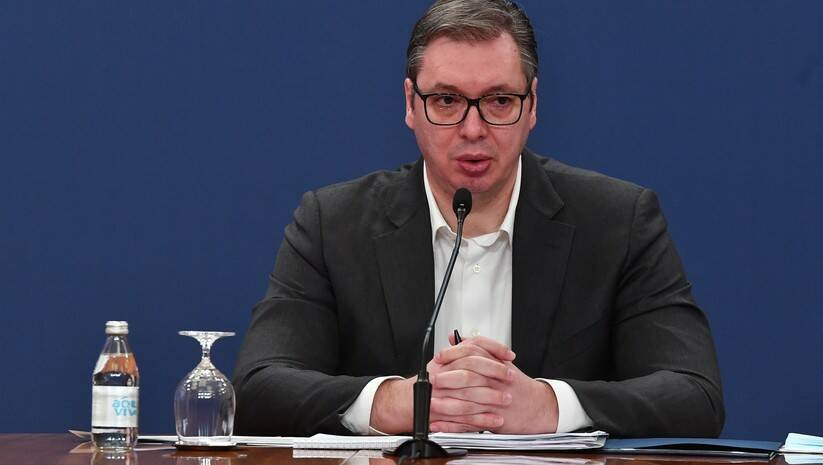 Aleksandar Vučić posle sednice Saveta za nacionalnu bazbednost Foto: Srđan Ilić