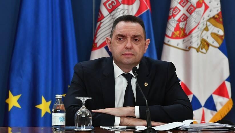 Aleksandar Vulin posle sednice Saveta za nacionalnu bazbednost Foto: Srđan Ilić
