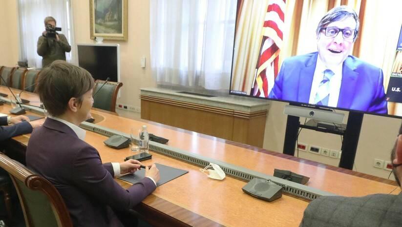 Beta: Predsednica Vlade Srbije Ana Brnabic i specijalni predstavnik Stejt Departmenta za Zapadni Balkan Metju Palmer