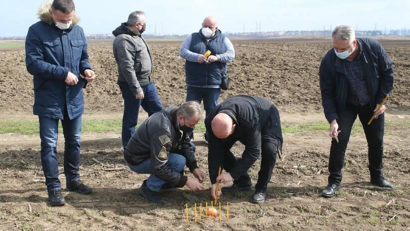 Obeležavanje godišnjice pada helikoptera  u kome je stradalo sedam osoba  13. februar 2021. Foto: FoNet/Zoran Mrđa