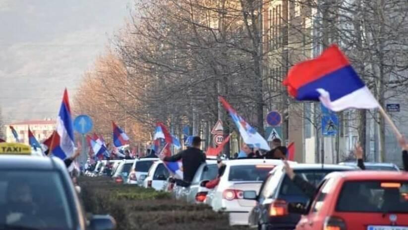 Slavlje pristalica koalicije Za budućnost Nikšića Foto Facebook/Demokratski front