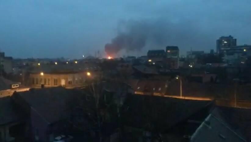 printscreen, facebook/pancevositi: Požar u bivšoj fabrici stakla u Pančevu