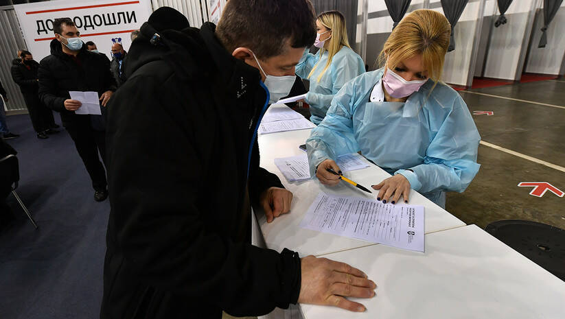 Vakcinacija AstraZeneka, Beogradski sajam / Foto: Srđan Ilić