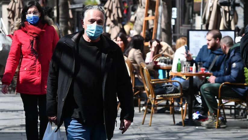 Otvaranje bašti ugostiteljskih objekata nakon prekida rada zbog koronavirusa Foto: Srđan Ililć