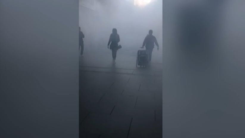 printscreen: Dimne bombe u Knez MIhailovoj