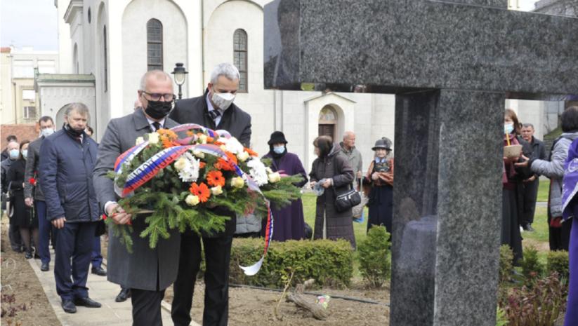 Polaganje venaca povodom 80 godina od bombardovanja Beograda u Drugom svetskom ratu, Foto: Beoinfo