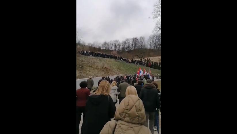 Prtscrn/Twitter: Protest građana u Dobrinji