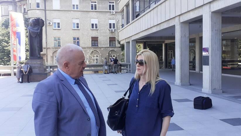 Advokat Dragoljub Đorđević i Jelena Zorić; Izvor: NUNS