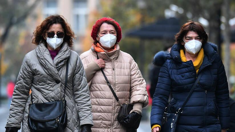 Beogradske ulice tokom epidemije koronavirusa, novembar 2020. Foto: Srđan Ilić