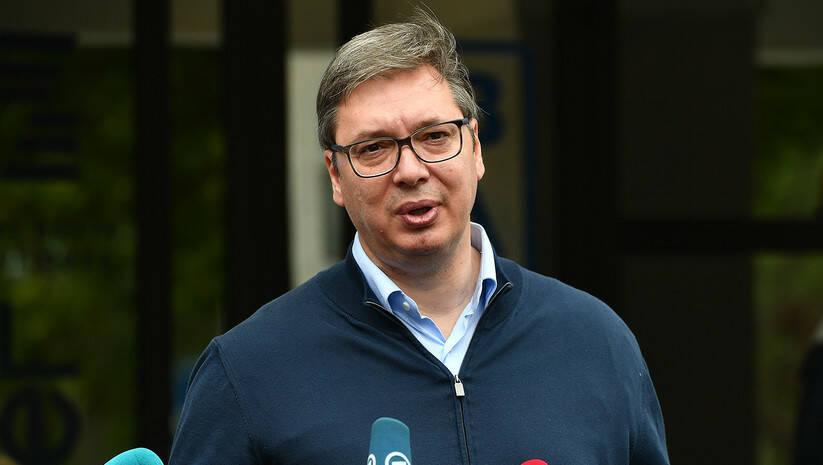 Izbori 2020, Aleksandar Vučić na biračkom mestu Foto: Srđan Ilić