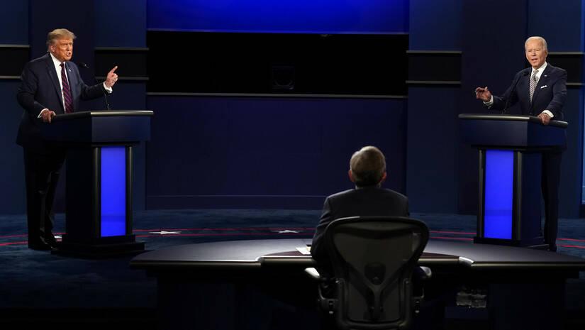 Donald Tramp i Džozef Bajden, prva debata kandidata za predsednika SAD, Foto: AP Photo/Patrick Semansky