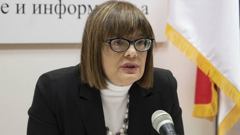 Maja Gojković, Foto: Ministarstvo kulture i informisanja
