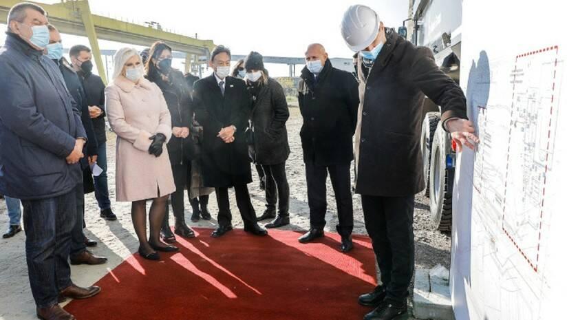 Početak izgradnje postrojenja za odsumporavanje dima u TE Nikola Tesla, Obrenovac, 1. decembar 2020, Foto: Vlada Srbije
