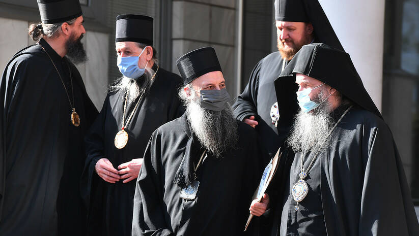 Vladika Porfirije Perić uoči današnjeg izbora na mesto patrijarha SPC Foto: Srđan Ilić