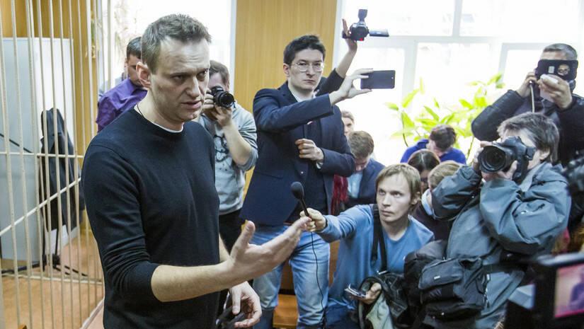 AP Photo/Denis Tyrin: Aleksej Navaljni u sudu