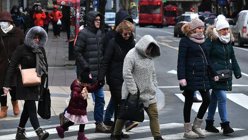 Beogradske ulice tokom pandemije koronavirusa, februar 2020. Foto: Srđan Ilić